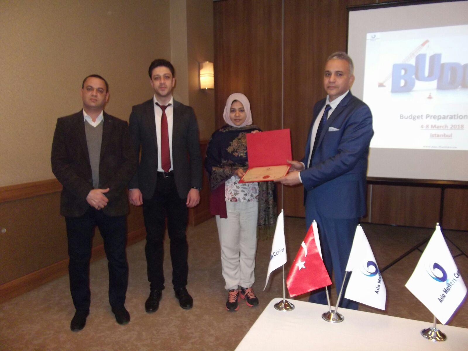 Budget Preparation Skills -Istanbul (4-8 March 2018)